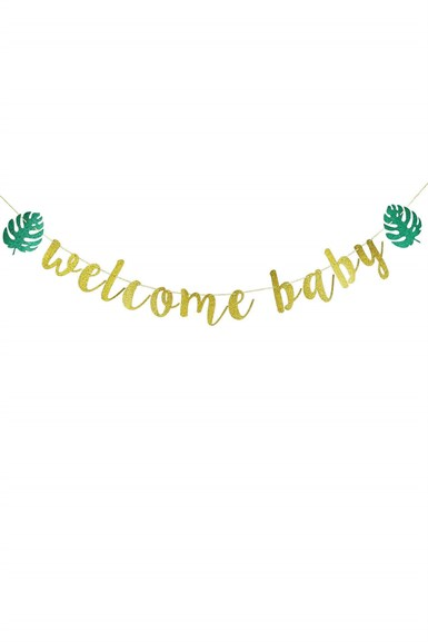 Baby Shower Welcome Baby Banner
