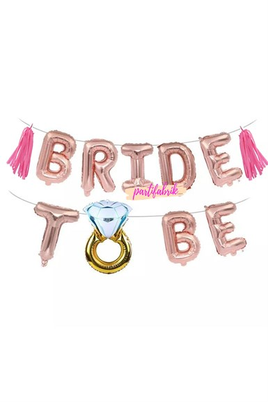 Bekarlığa Veda Bride To Be Rose Balon Pembe