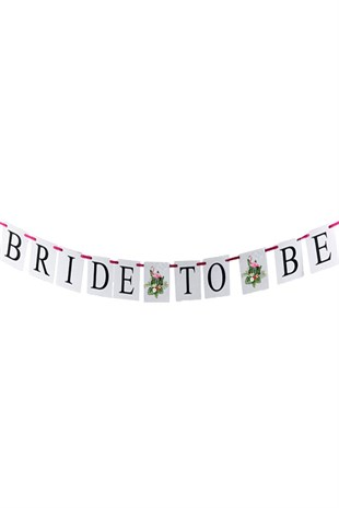Bride To Be Banner Flamingo Detaylı