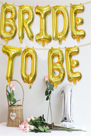 Bride To Be Bekarlığa Veda Gold Folyo Balon Seti