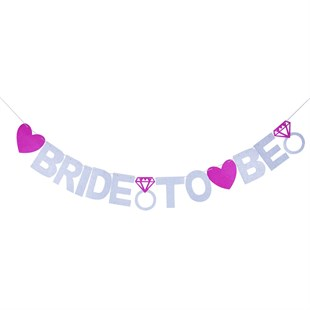 Bride to Be Simli Banner
