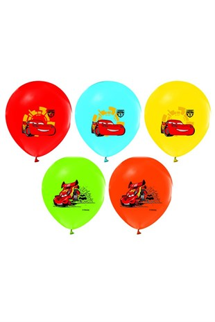 Cars Baskılı Latex Balon 10 lu