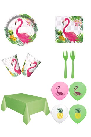 Flamingo Temalı Kullan At Parti Seti