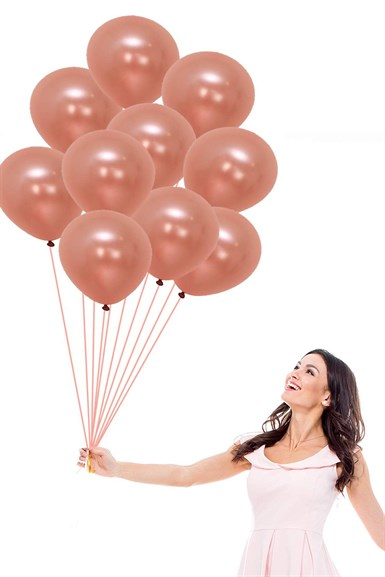 Rose Gold Metalik Balon