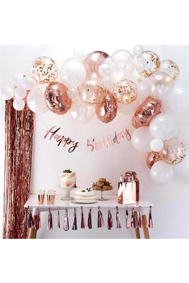 Rose Gold Zincir Balon Parti Seti